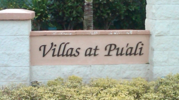 Villas at Puali sign