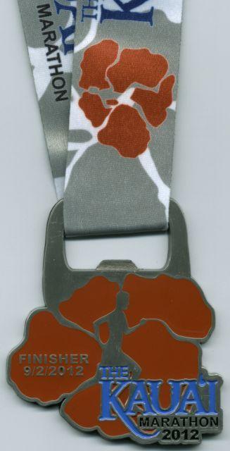 2012 Kauai Marathon Finisher's Medal