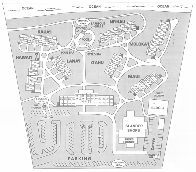 Islander On The Beach Kauai Property Map